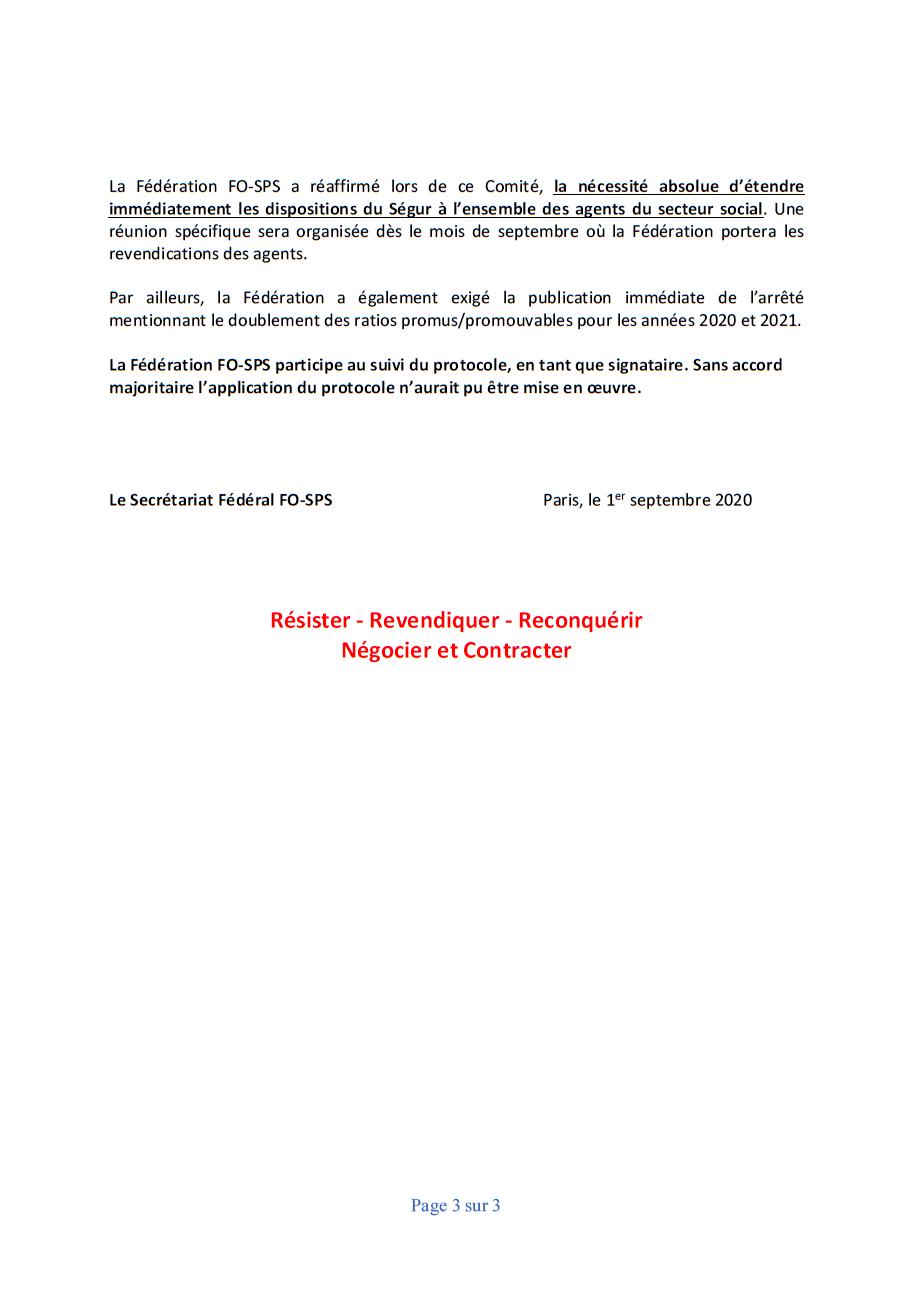 2020 09 01 compte rendu segur du 2eme comite de suivi du protocole d accord du segur 3